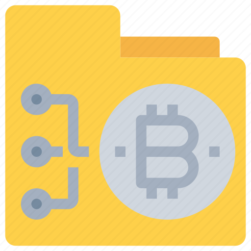 bitcoin, btc, currency, document, file, folder, money icon