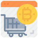 bitcoin, browser, btc, currency, ecommerce, money, shopping icon