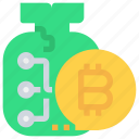 bag, bank, bitcoin, btc, business, currency, money icon