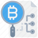 bitcoin, btc, currency, file, money, network, search icon