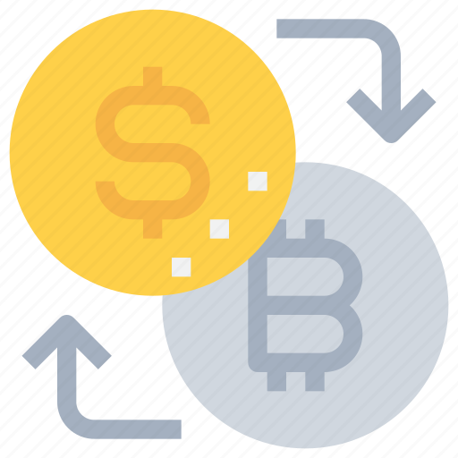 arrow, bank, bitcoin, btc, currency, exchange, money icon