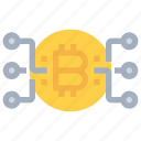 bitcoin, btc, coin, connect, currency, money, network icon