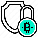 bitcoin, coin, currency, digital, money, security icon