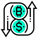 bitcoin, coin, currency, digital, exchange, money, token icon