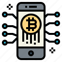 bitcoin, blockchain, cryptocurrency, finance icon