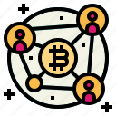 blockchain, business, cryptocurrency, finance icon