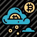 bitcoin, cloud, finance, money