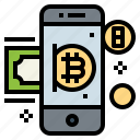 bitcoin, cryptocurrency, finance, payment icon