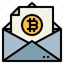 bitcoin, email, envelope, message