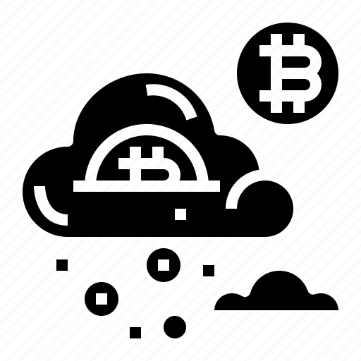 bitcoin, cloud, finance, money icon