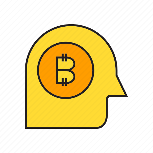 blockchain, cryptocurrency, digital currency, head, money, think, transaction icon