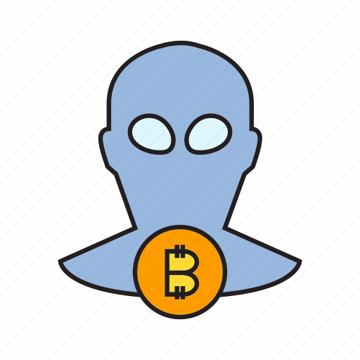 bitcoin, cryptocurrency, digital currency, hacker, money, steal, thief icon