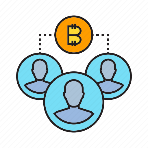 bitcoin, blockchain, crowd, cryptocurrency, decentralize, digital currency, transaction icon