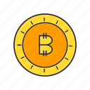 bitcoin, coin, cryptocurrency, digital currency, electronic money, money, transaction icon