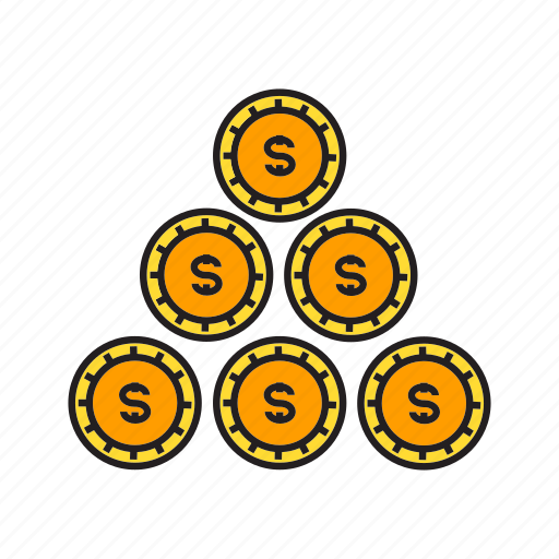 coins, currency, dollar, finance, money, wealth icon