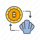 barter, bitcoin, cryptocurrency, currency exchange, digital currency, exchange, swap icon