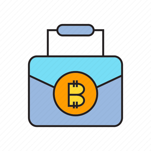 bitcoin, blockchain, briefcase, business bag, cryptocurrency, digital currency, money icon