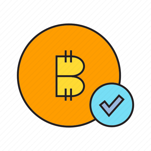approve, bitcoin, check, coin, cryptocurrency, digital currency, secure icon