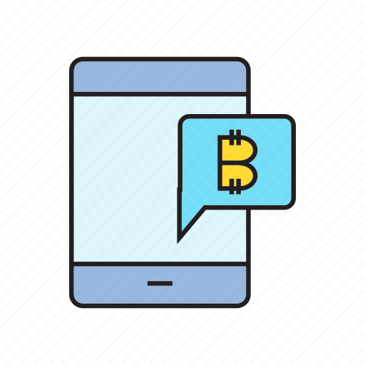 alert, bitcoin, cryptocurrency, digital currency, electronic money, message, smart phone icon