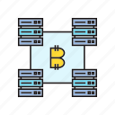 bitcoin, bitcoin mining, blockchain, cryptocurrency, digital currency, network, router icon
