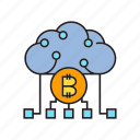 bitcoin, blockchain, cloud computing, cryptocurrency, decentralize, digital currency, network icon