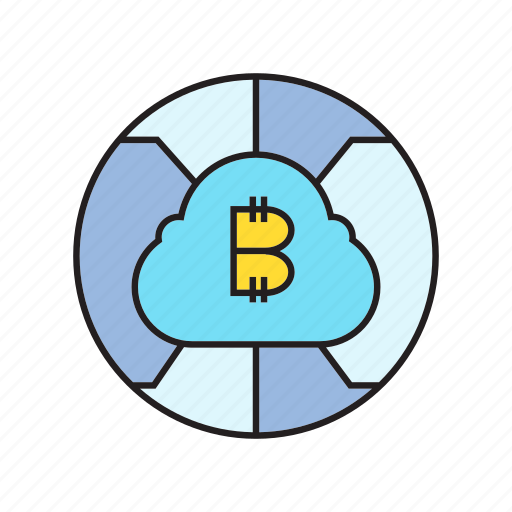 bitcoin, blockchain, cloud, cryptocurrency, digital currency, electronic money, money icon