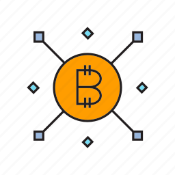 bitcoin, blockchain, cryptocurrency, decentralize, digital currency, electronic money, transaction icon