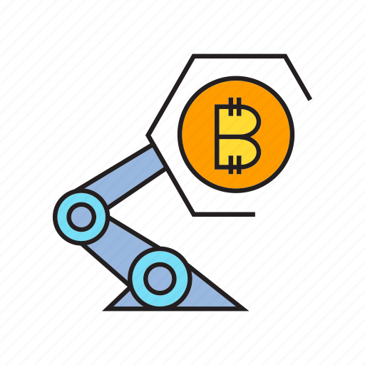 auto, bitcoin, bot, cryptocurrency, digital currency, electronic money, robot icon