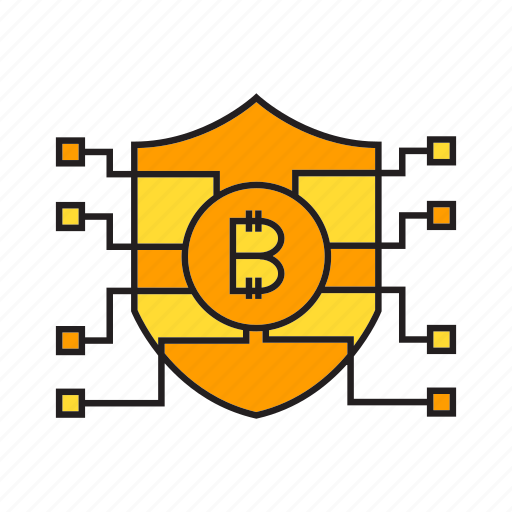 bitcoin, blockchain, cryptocurrency, digital currency, protection, security, shield icon