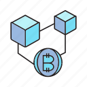 bitcoin, blockchain, cryptocurrency, cube, digital currency, electronic money icon