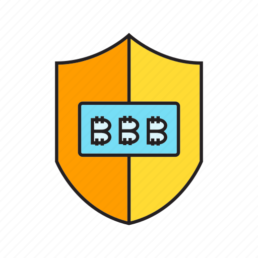 bitcoin, cryptocurrency, digital currency, protection, security, shield icon