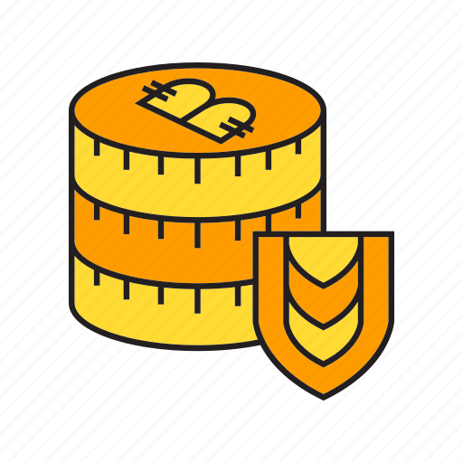 bitcoin, coin, cryptocurrency, digital currency, money, security, shield icon
