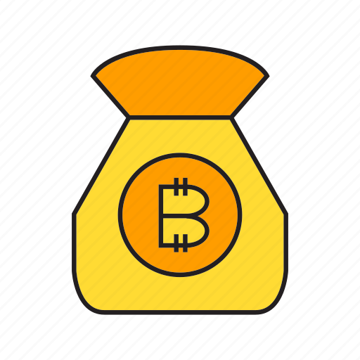 bitcoin, cryptocurrency, digital currency, money, purse, transaction, wealth icon