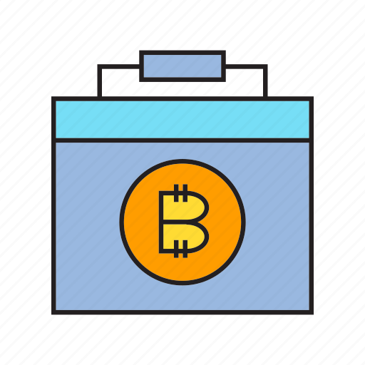 bitcoin, briefcase, business bag, cryptocurrency, digital currency, electronic money, money icon