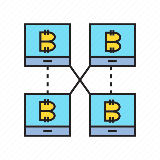 bitcoin, blockchain, connect, cryptocurrency, decentralize, digital currency, network icon