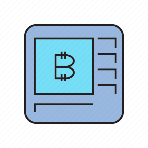atm, bitcoin, cryptocurrency, digital currency, electronic money, money machine icon