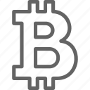 bit, bitcoin, business, cryptocurrency, finance, financial, web icon