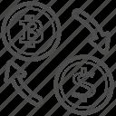 bill, bitcoin, bitcoins, cash, money, transfer icon