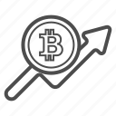 bill, bitcoin, bitcoins, cash, price, statistics icon