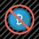 ban, bitcoin, block, cash, money icon