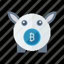 bank, bitcoin, cash, finance, piggy icon