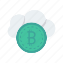 bitcoins, cash, finance, money, saving icon