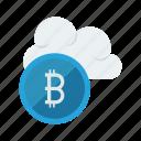 bitcoin, cloud, computing, database, storage icon