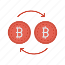 bitcoins, currency, dollar, exchange, money icon