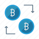 bitcoins, cash, currency, exchange, money icon