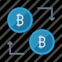 bitcoins, cash, currency, exchange, money
