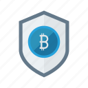 bitcoin, money, protection, secure, sheild icon