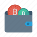 cash, money, purse, saving, wallet icon