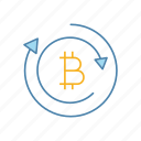 arrows, bitcoin, convert, crypto, cryptocurrency, exchange, finance icon