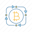 bitcoin, convert, crypto, cryptocurrency, exchange, finance, rotation arrows icon